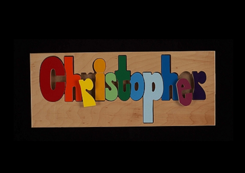 Customized Kids Wood Name Puzzle