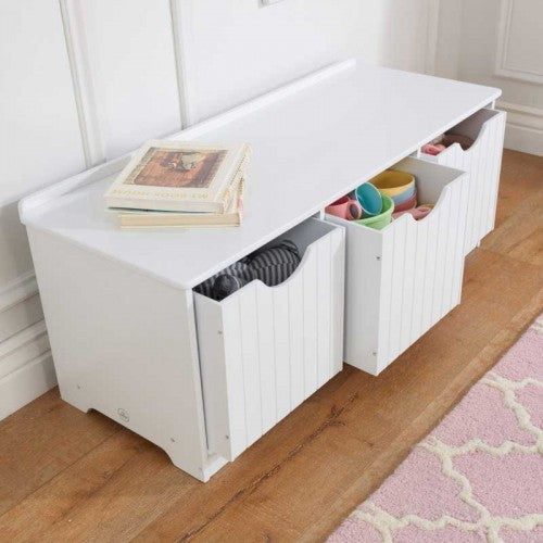Nantucket Toy Storage Bench | Toy Box City