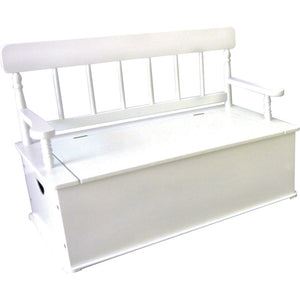 Simply Classic Toy Box Bench - White | Toy Box City