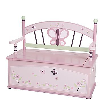 CoCaLo Sugar Plum Toy Box Bench | Toy Box City