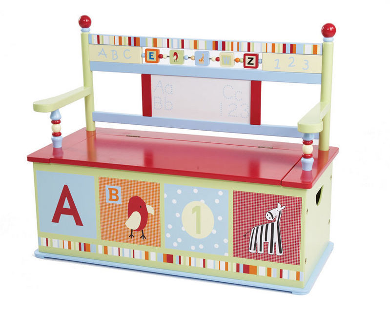 CoCaLo Alphabet Soup Toy Box Bench | Toy Box City