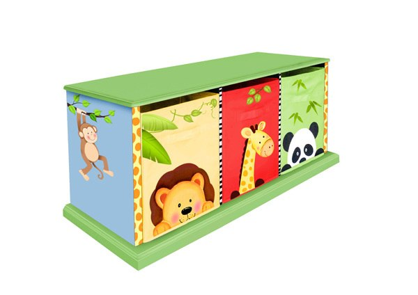 Sunny Safari Cubby Bench | Toy Box City