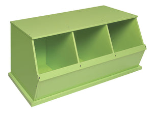 Badger Triple Stackable Storage Cubby - Lime | Toy Box City