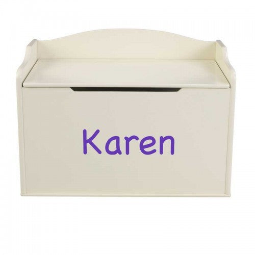 Personalized Vanilla Austin Toy Box | Toy Box City