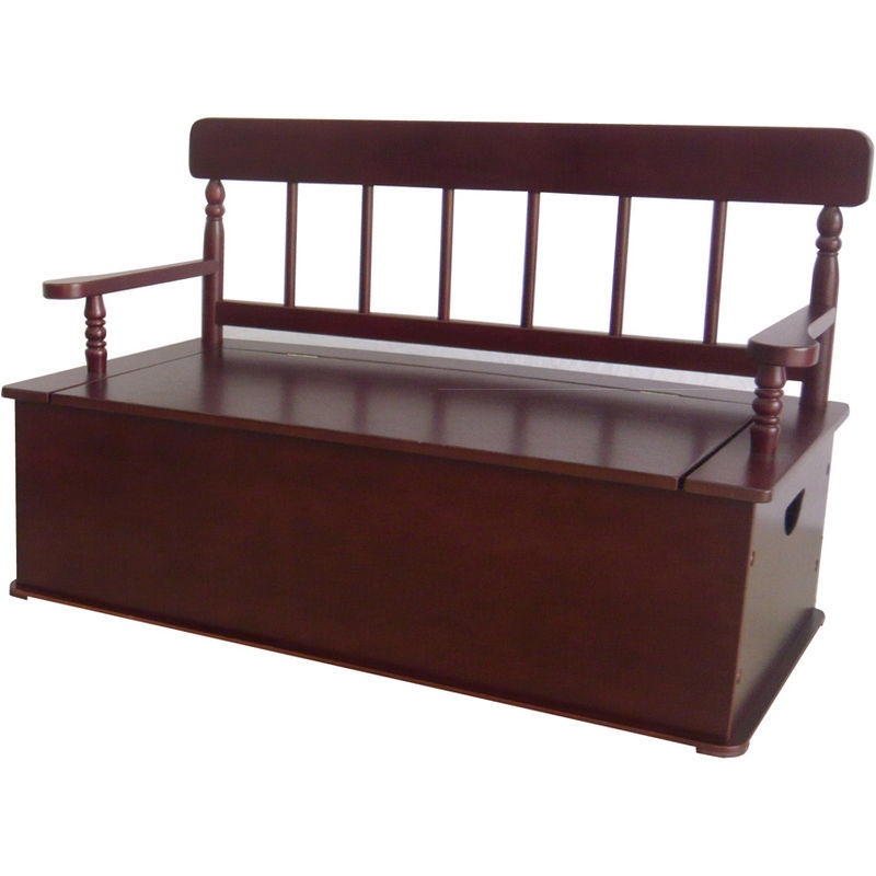 Simply Classic Toy Box Bench - Cherry | Toy Box City