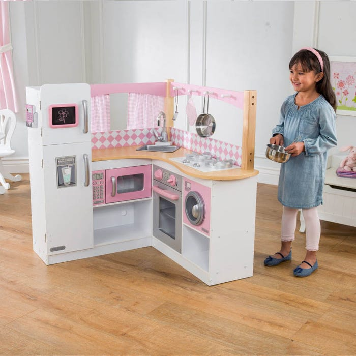 Grand Gourmet Corner Play Kitchen for Kids