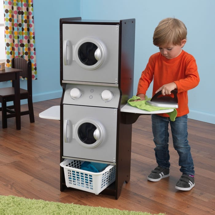 Laundry Play Set for Kids - Espresso Color