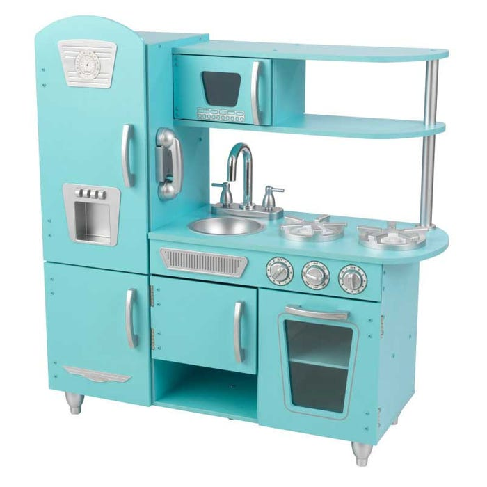 Vintage Play Kitchen Toy for Kids – Blue & Other Colors