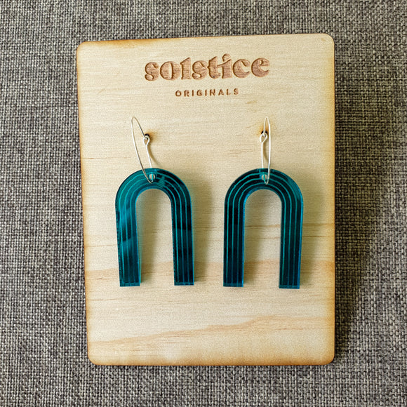Iris Hoops (Teal Mirror)