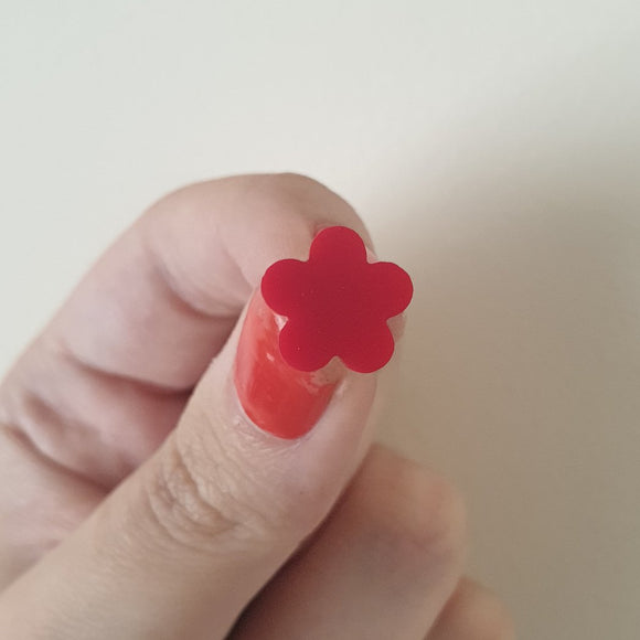 Mini Flower Stud (Red)