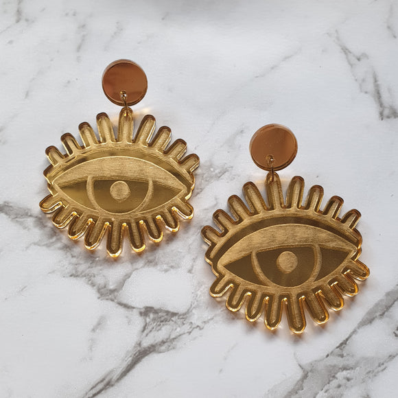 All Eyes On You Dangle (Gold Mirror)