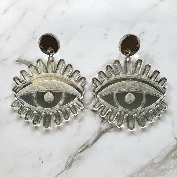 All Eyes On You Dangle (Silver Mirror)