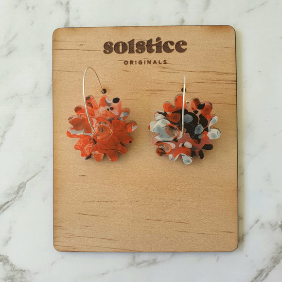 Spinny Flower Hoops (Koi Acrylic)