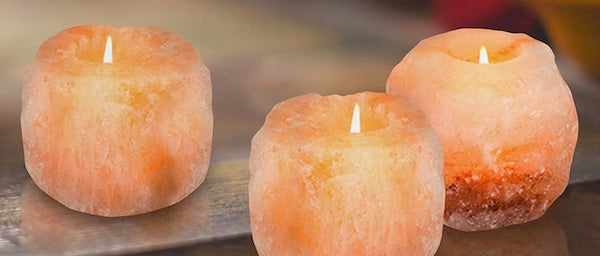 : : you  : : himalayan salt candle holder & premium soy wax candle–unscented : : - Virtue Soap Company