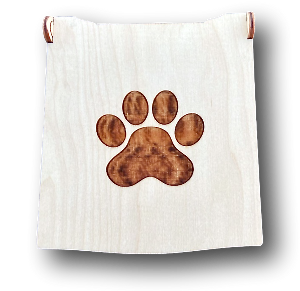 Custom Made Wood Gift Box-PAWPRINT will hold ONE Dog soap OR ONE soap for You. - Virtue Soap Company
