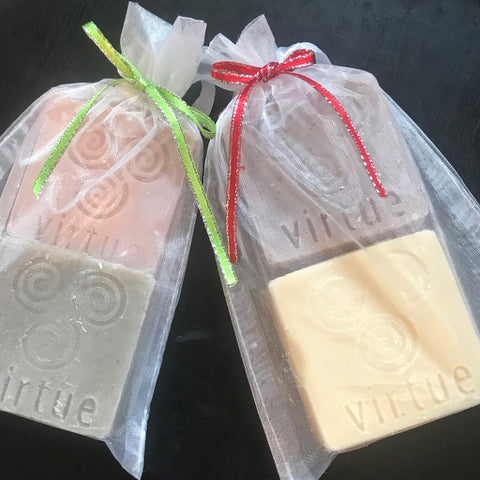 One set of 2 sample-size soaps (let us choose) - Virtue Soap Company