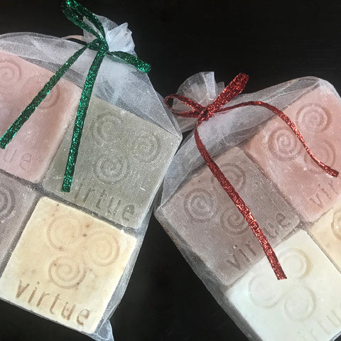 One set of 4 sample-size soaps (let us choose) - Virtue Soap Company