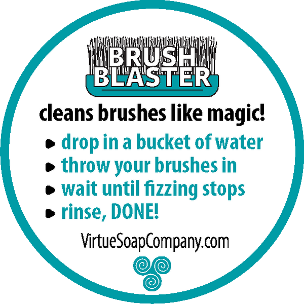 Brush Blaster : : magic brush cleaner : : - Virtue Soap Company