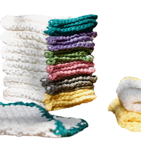 100% Cotton Washcloths, Handmade in the USA. - Virtue Soap Company