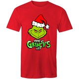 WHERE MY GRINCHES AT? - Mens T-Shirt