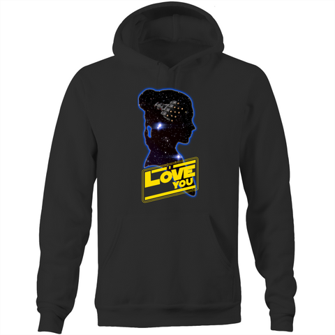 I LOVE YOU - LEIA - Pocket Hoodie Sweatshirt