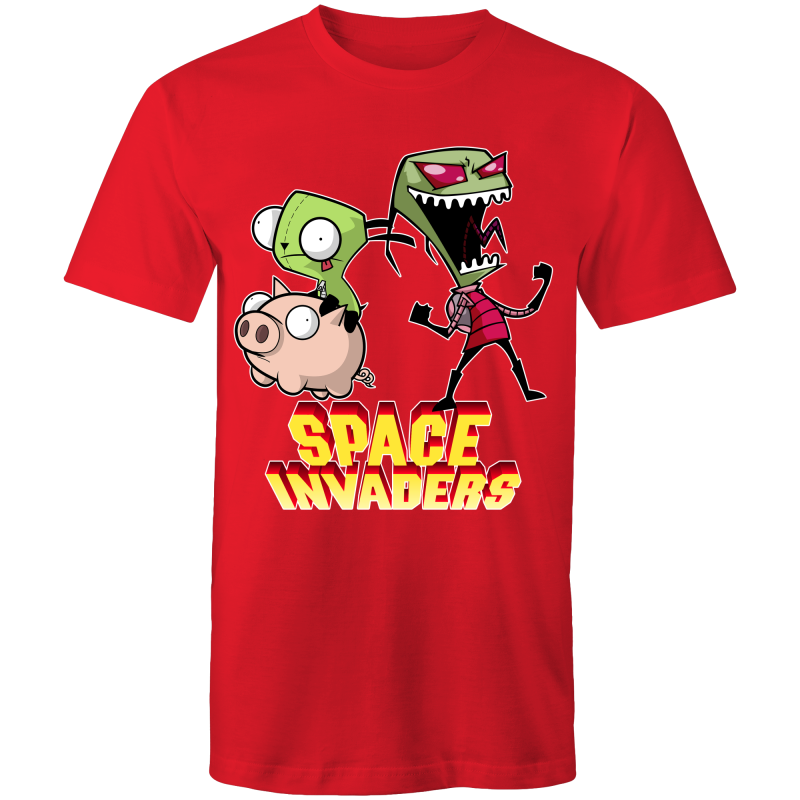 SPACE INVADERS ZIM GIR - Mens T-Shirt - Everything Sweaties