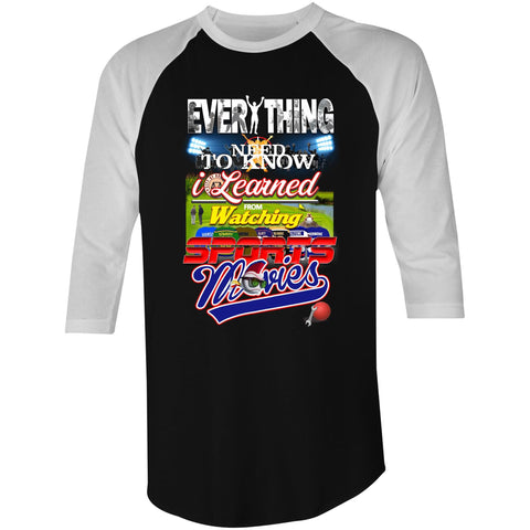 EVERYTHING SPORTS MOVIES - 3/4 Sleeve T-Shirt
