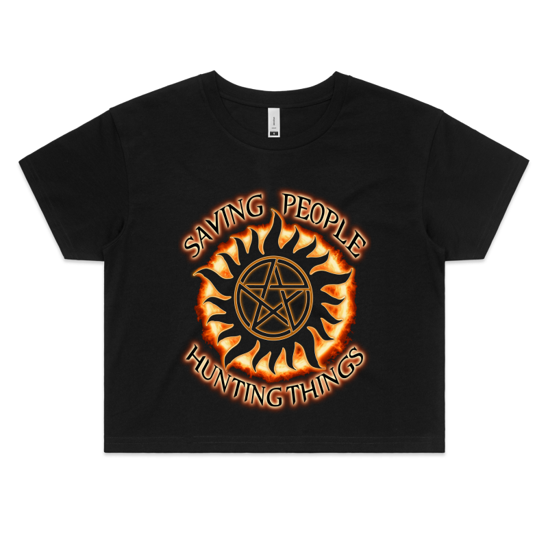 SUPERNATURAL 'THE FAMILY BUSINESS' - Womens Crop Tee