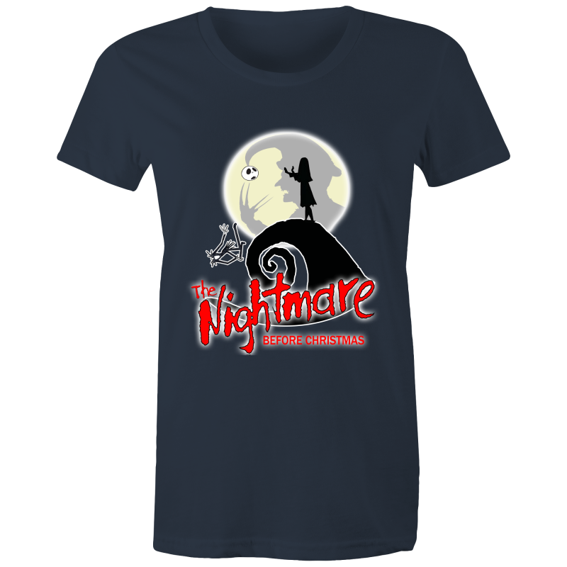 THE NIGHTMARE BEFORE CHRISTMAS - Womens Crew T-Shirt - Everything Sweaties