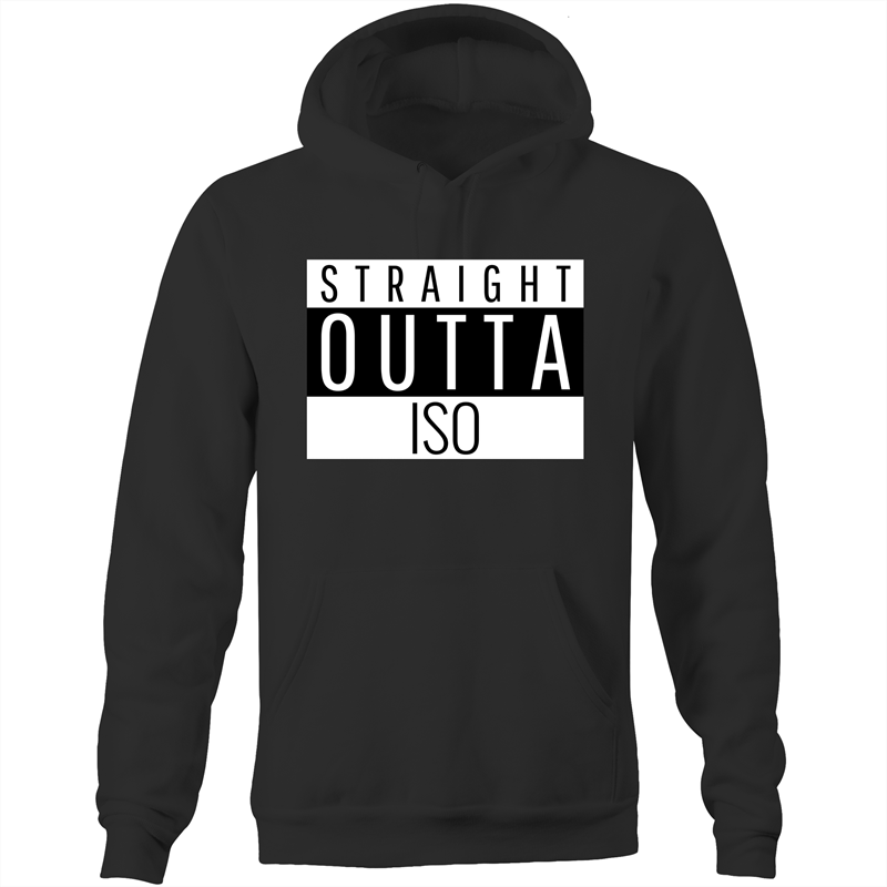 STRAIGHT OUTTA ISO - Pocket Hoodie Sweatshirt