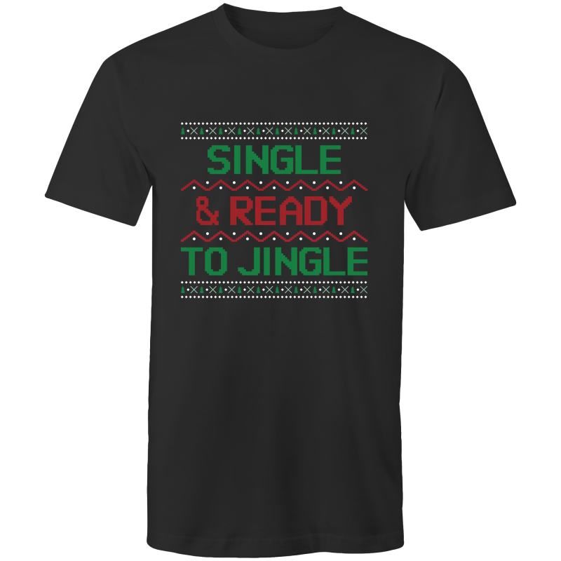 SINGLE AND READY TO JINGLE - Mens T-Shirt