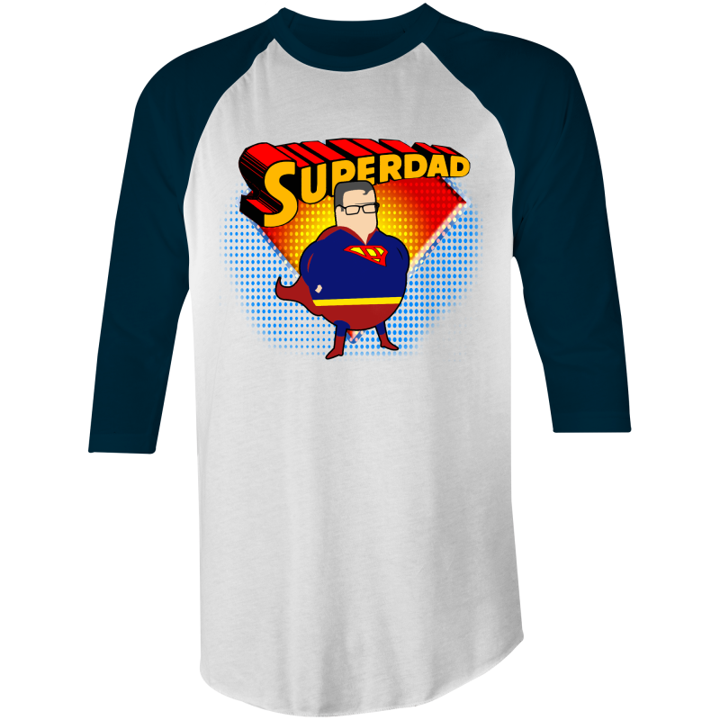 SUPERDAD - 3/4 Sleeve T-Shirt
