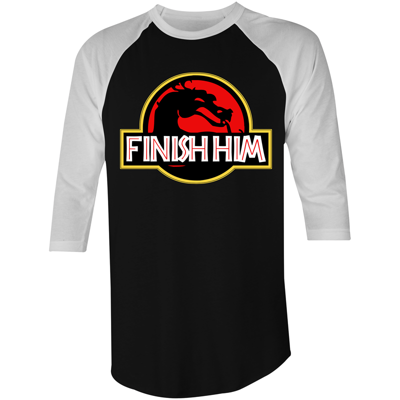 FINISH HIM - 3/4 Sleeve T-Shirt