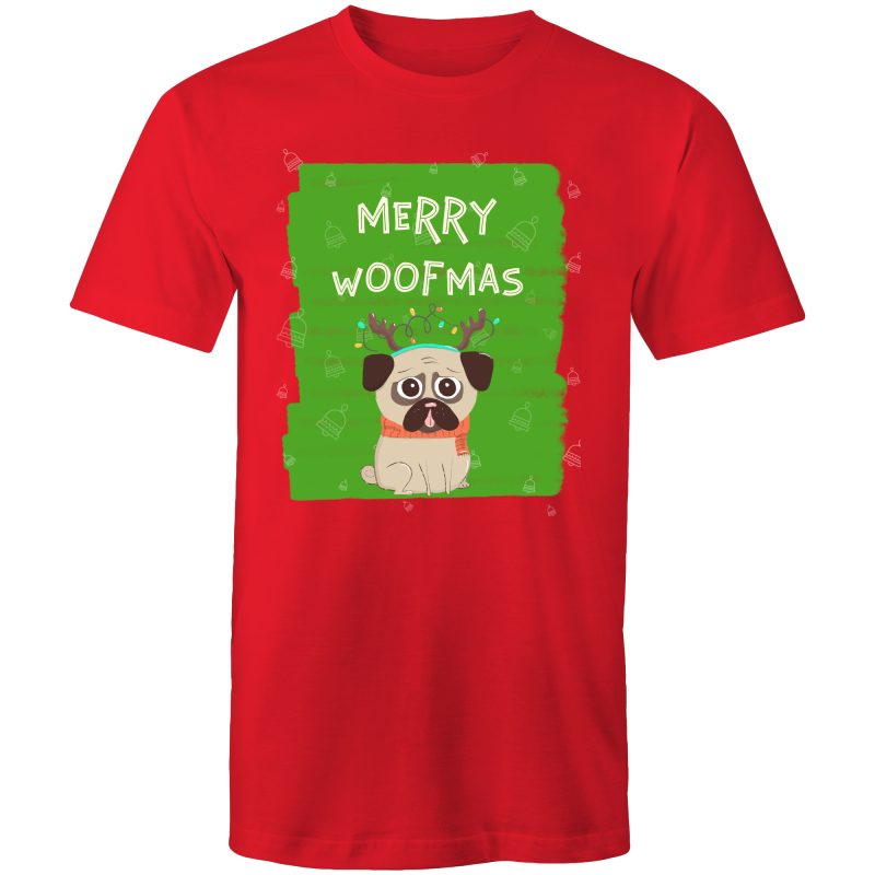 MERRY WOOFMAS - Mens T-Shirt