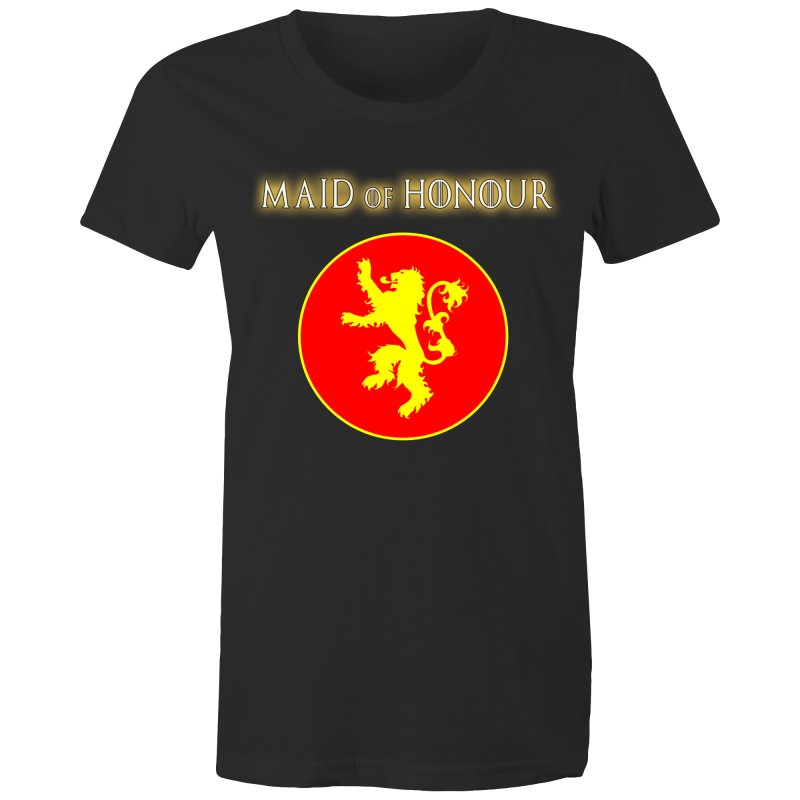 HOUSE LANNISTER - MAID OF HONOUR - Womens T-shirt