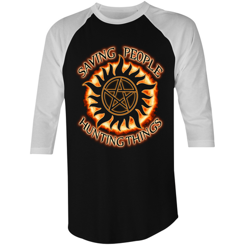 SUPERNATURAL 'THE FAMILY BUSINESS' - 3/4 Sleeve T-Shirt