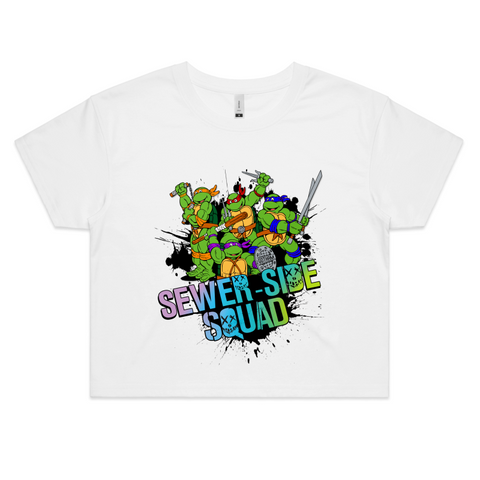 TMNT SEWER-SIDE SQUAD - Womens Crop Tee