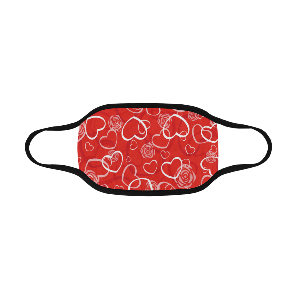HEARTS AND ROSES FACE MASK WITH PM2.5 FILTERS