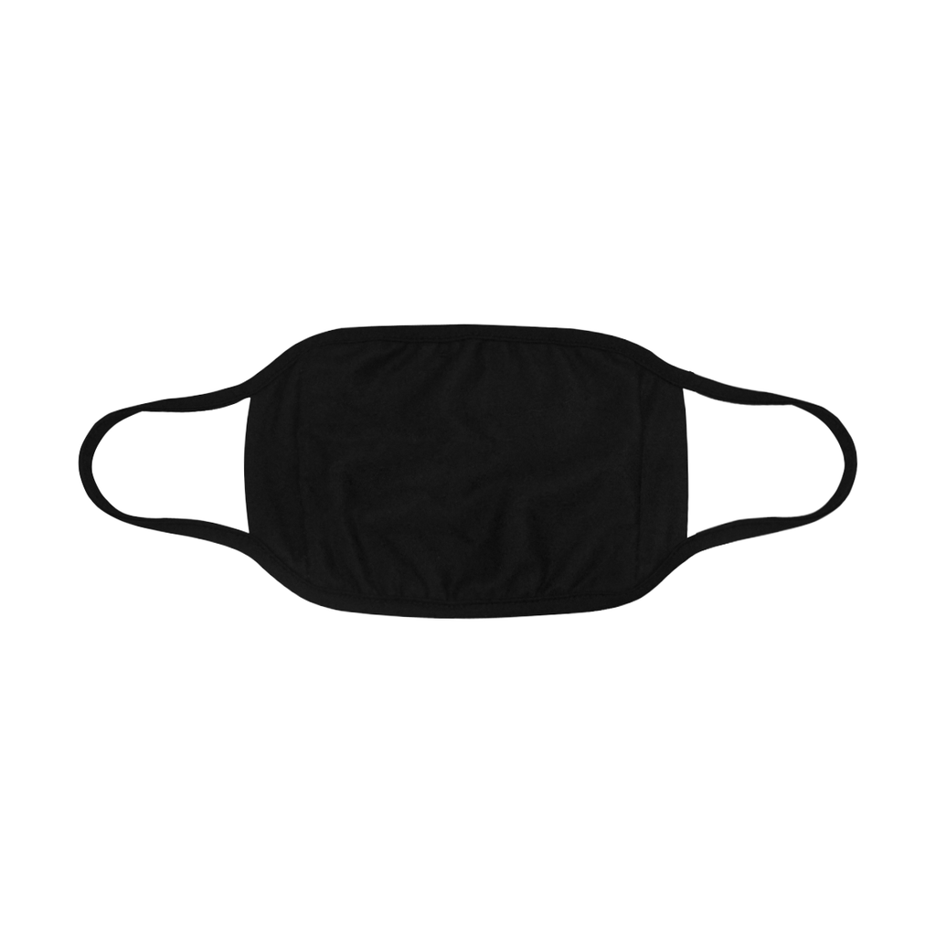 PLAIN BLACK FACE MASK WITH PM2.5 FILTERS
