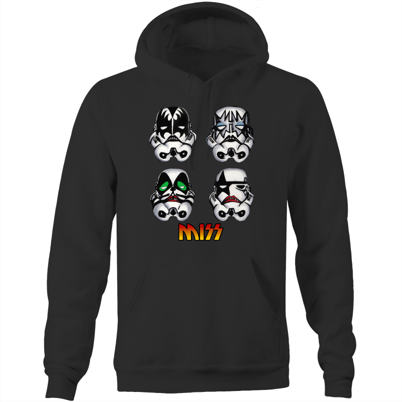 MISS / KISS TROOPER- Pocket Hoodie Sweatshirt - Everything Sweaties