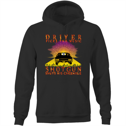 SUPERNATURAL - DRIVER VS SHOTGUN - Pocket Hoodie Sweatshirt