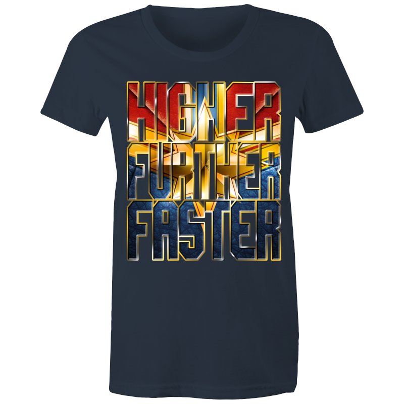 CAPTAIN MARVEL - HIGHER FURTHER FASTER - Womens T-shirt