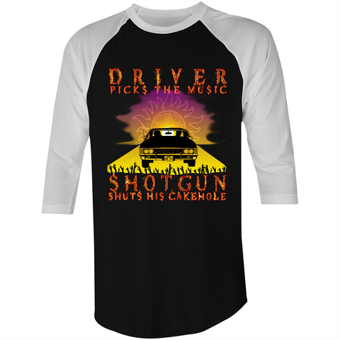 DRIVER VS SHOTGUN - 3/4 Sleeve T-Shirt