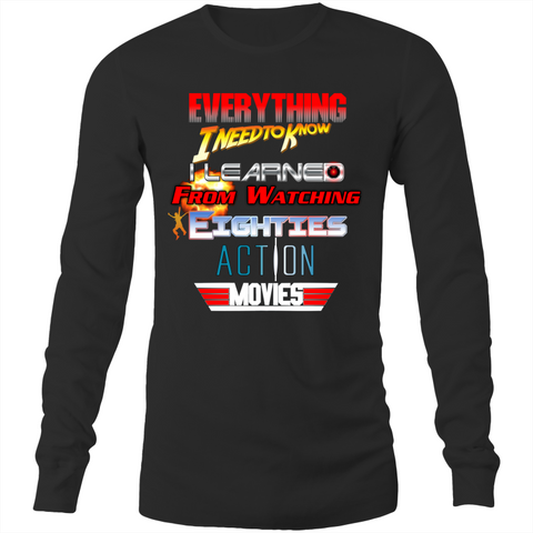 80s ACTION MOVIES - Long Sleeve T-Shirt