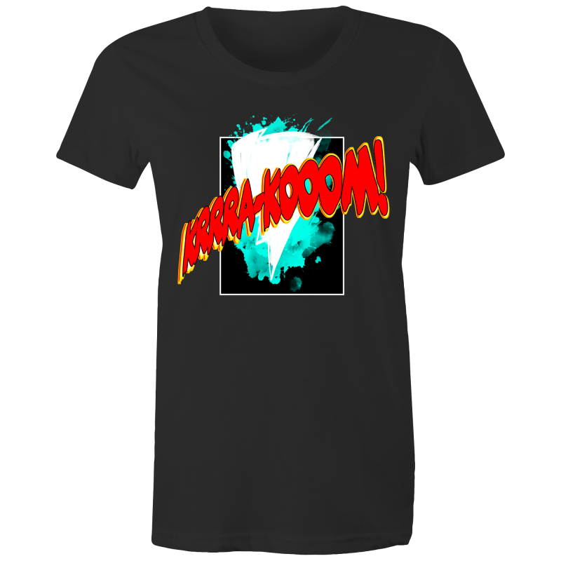 KRA-KOOM LIGHTENING Womens T-shirt