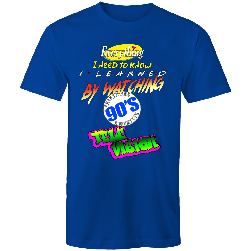 90S TELEVISION - Mens T-Shirt - Everything Sweaties