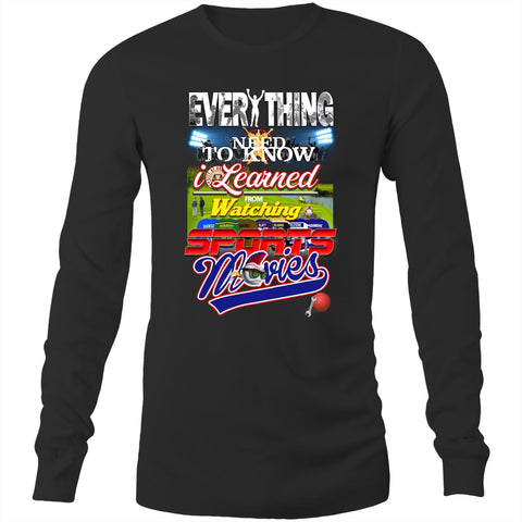 EVERYTHING SPORTS MOVIES - Long Sleeve T-Shirt