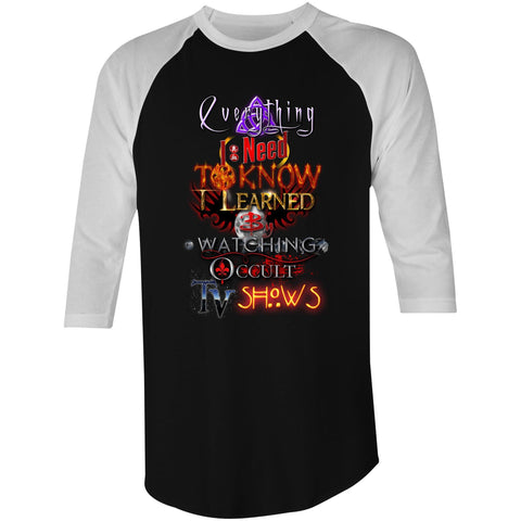 EVERYTHING OCCULT TV - 3/4 Sleeve T-Shirt