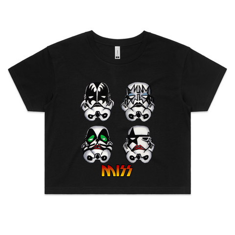 MISS / KISS TROOPER - Womens Crop Tee