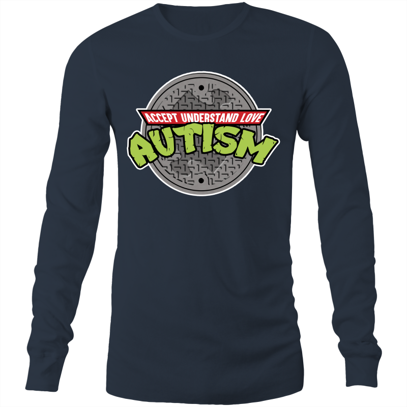 TMNT AUTISM AWARENESS ACCEPT UNDERSTAND LOVE  - Mens Long Sleeve T-Shirt